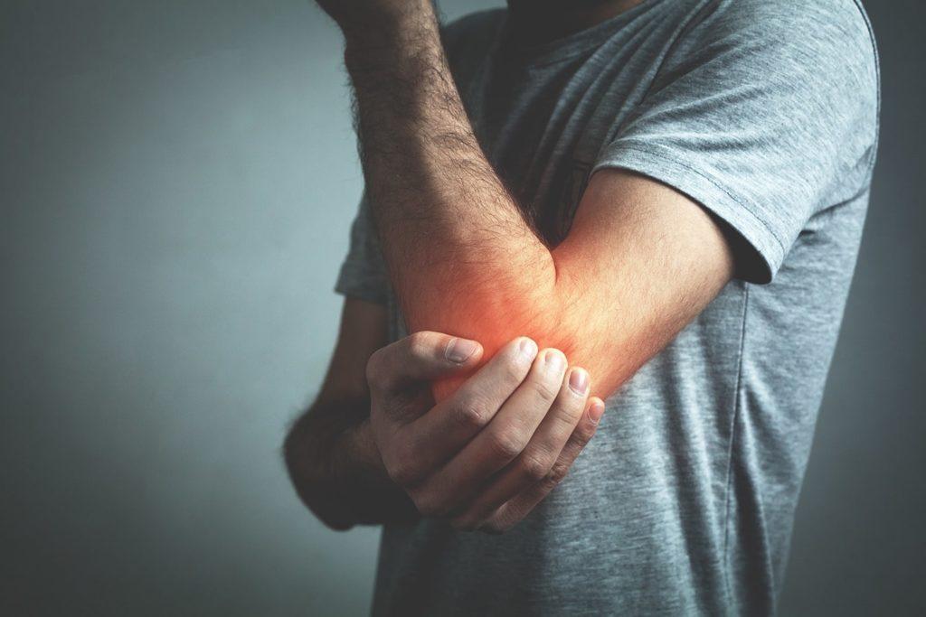 Zapalenie kaletki maziowej - ból w okolicy łokcie